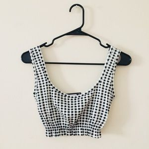 NASTY GAL checkered crop top never worn